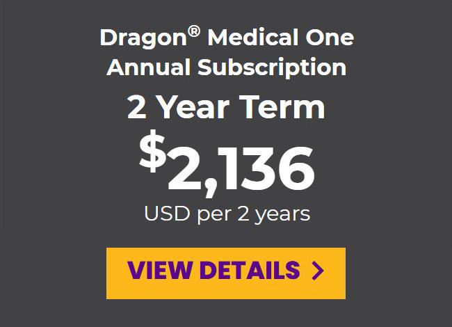 DMO prepaid annual subscription for a 2-year term