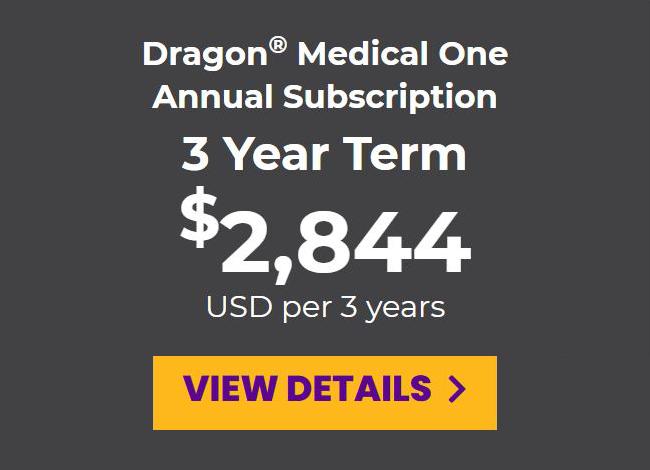 DMO prepaid annual subscription for a 3-year term