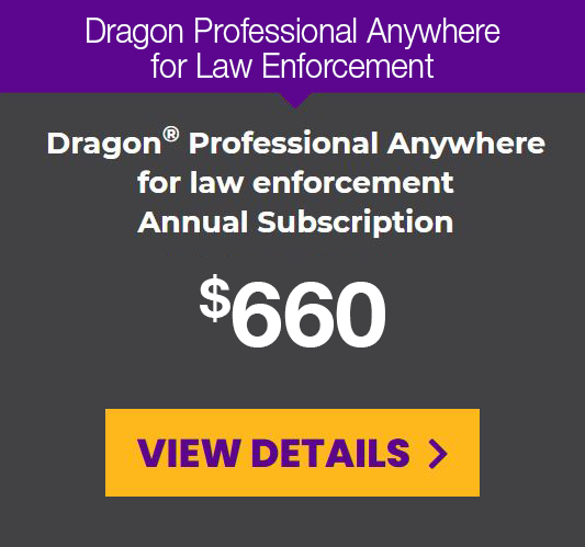 DPA for law enforcement prepaid annual subscription for a 1-year term