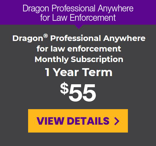 DPA for law enforcement monthly subscription for a 1-year term